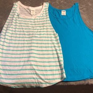 Pink muscle tanks two for 20